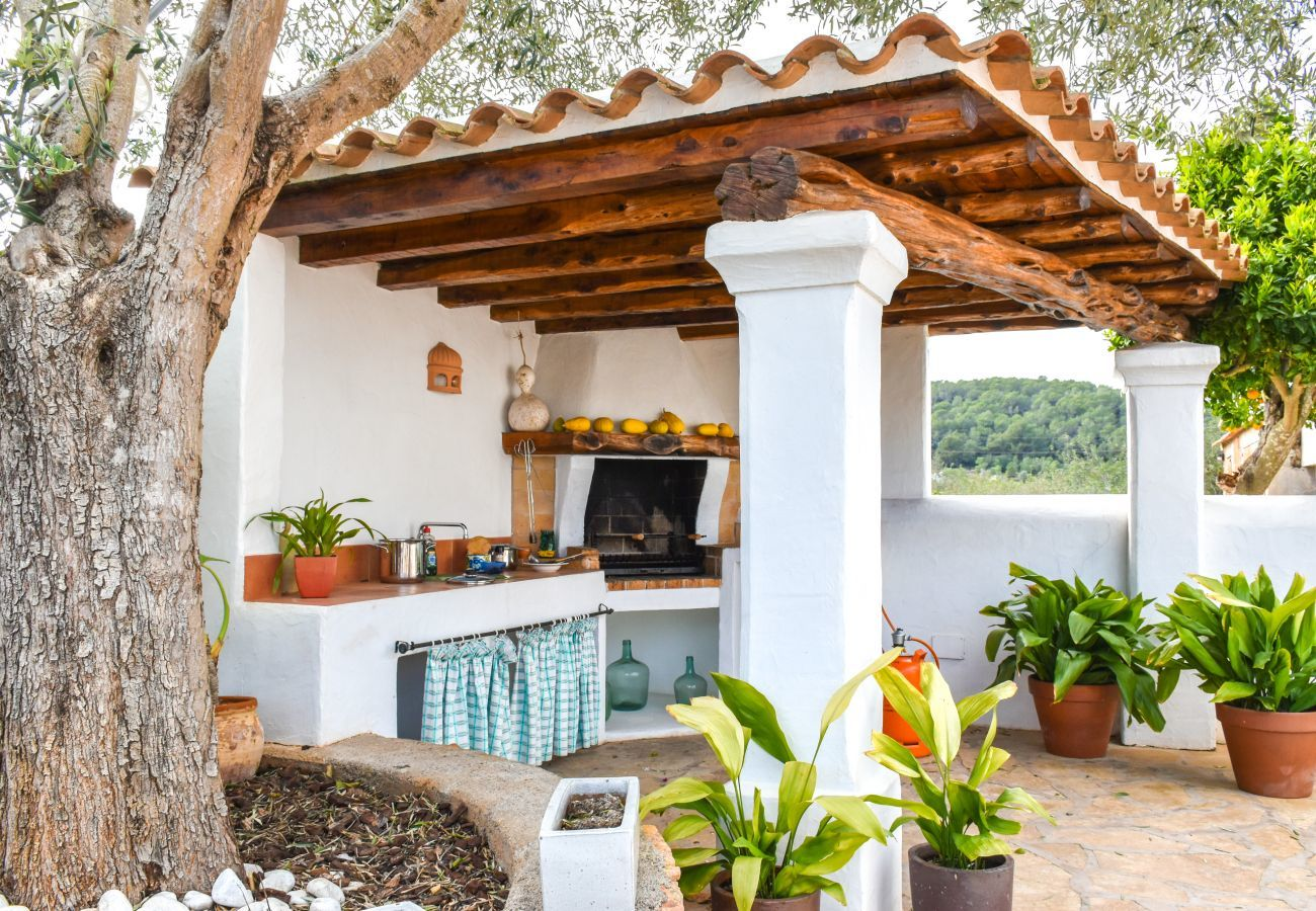 Barbecue area in the house Las Dalias
