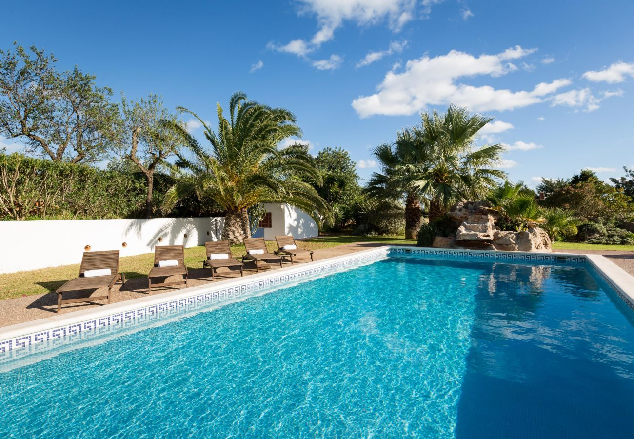 Views from the villa Canseres in Ibiza