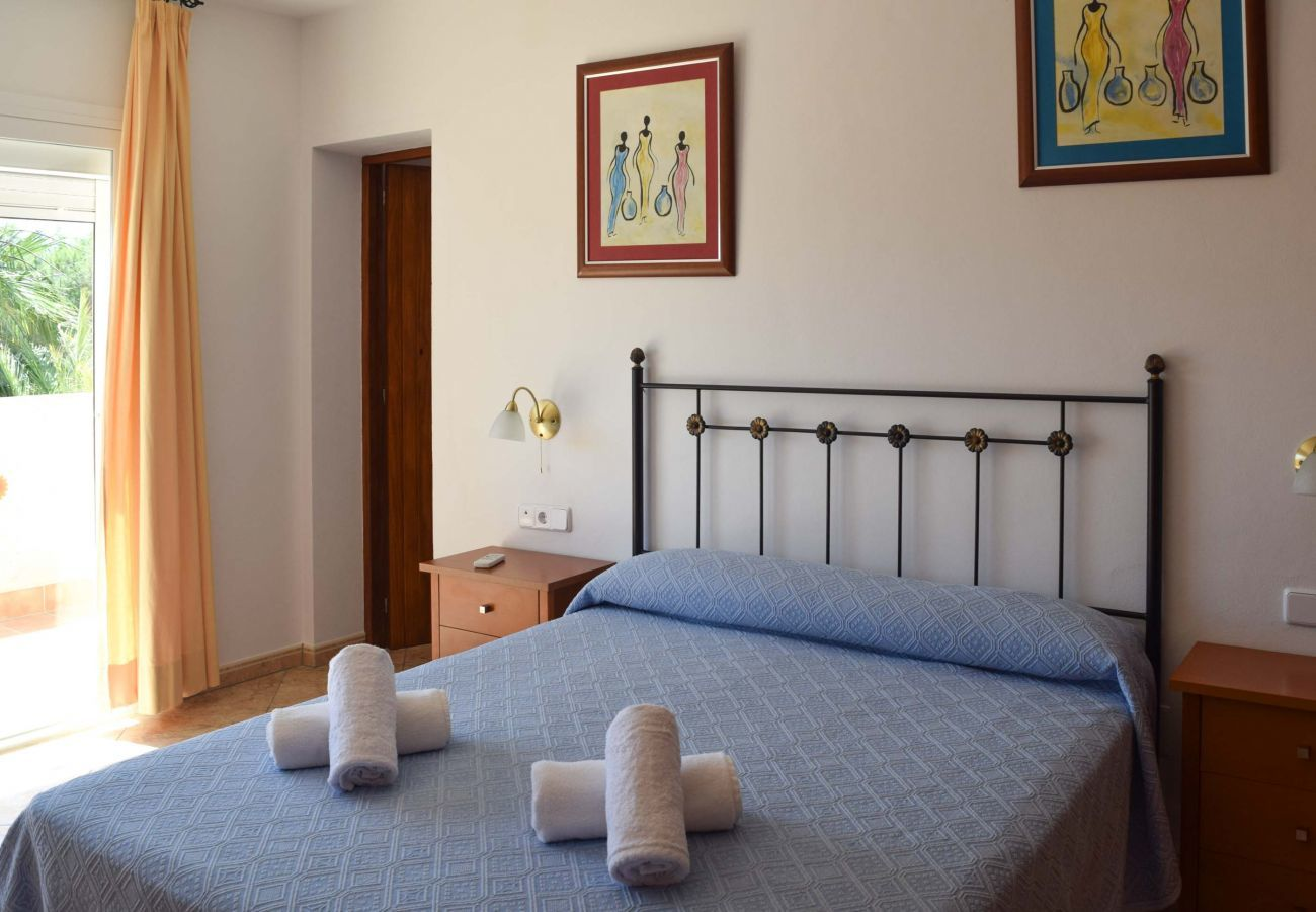 One of the four bedrooms of Villa Coqueta